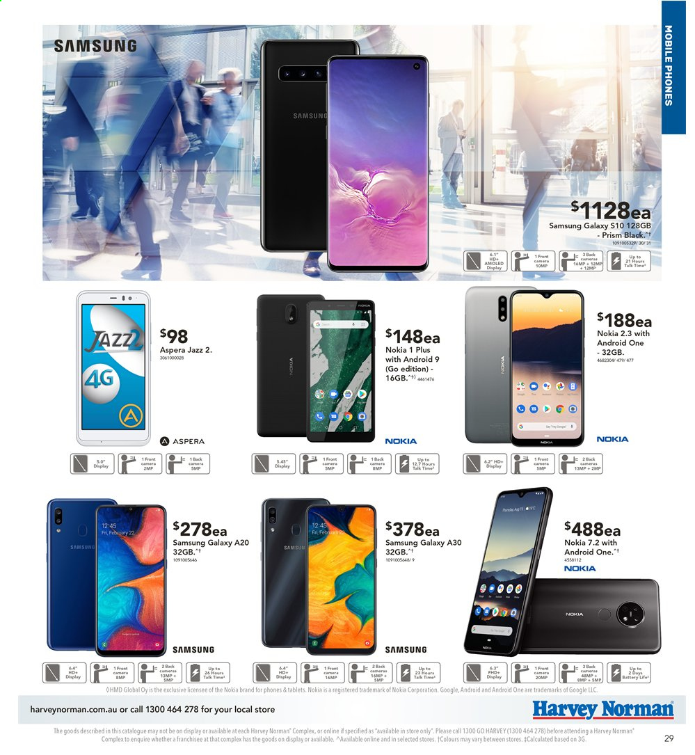 Harvey Norman catalogue  - 2.4.2020 - 19.4.2020. Page 29.