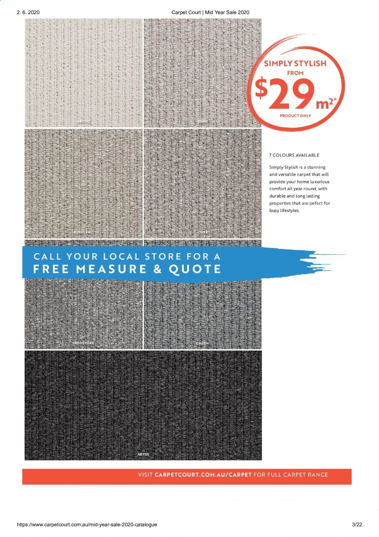 Carpet Court catalogue . Page 3.