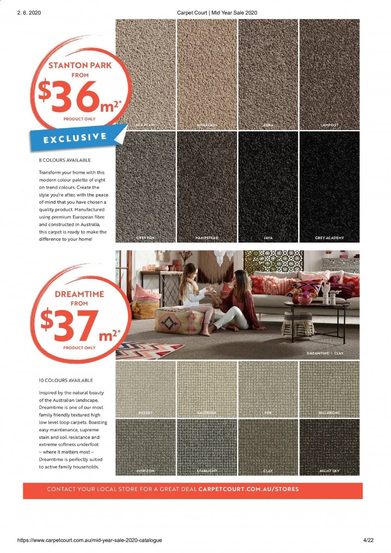 Carpet Court catalogue . Page 4.