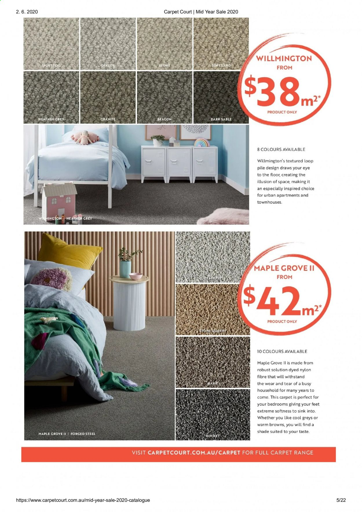 Carpet Court catalogue . Page 5.
