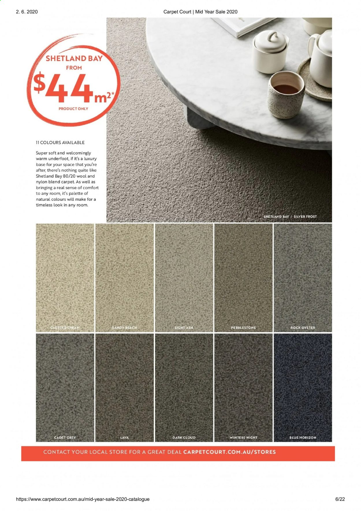 Carpet Court catalogue . Page 6.