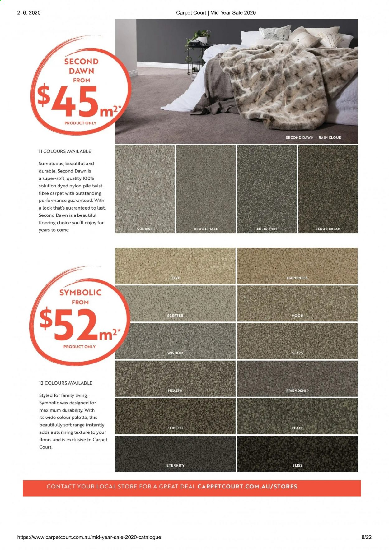Carpet Court catalogue . Page 8.