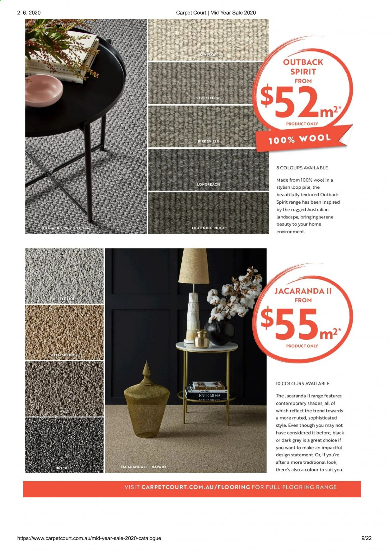 Carpet Court catalogue . Page 9.