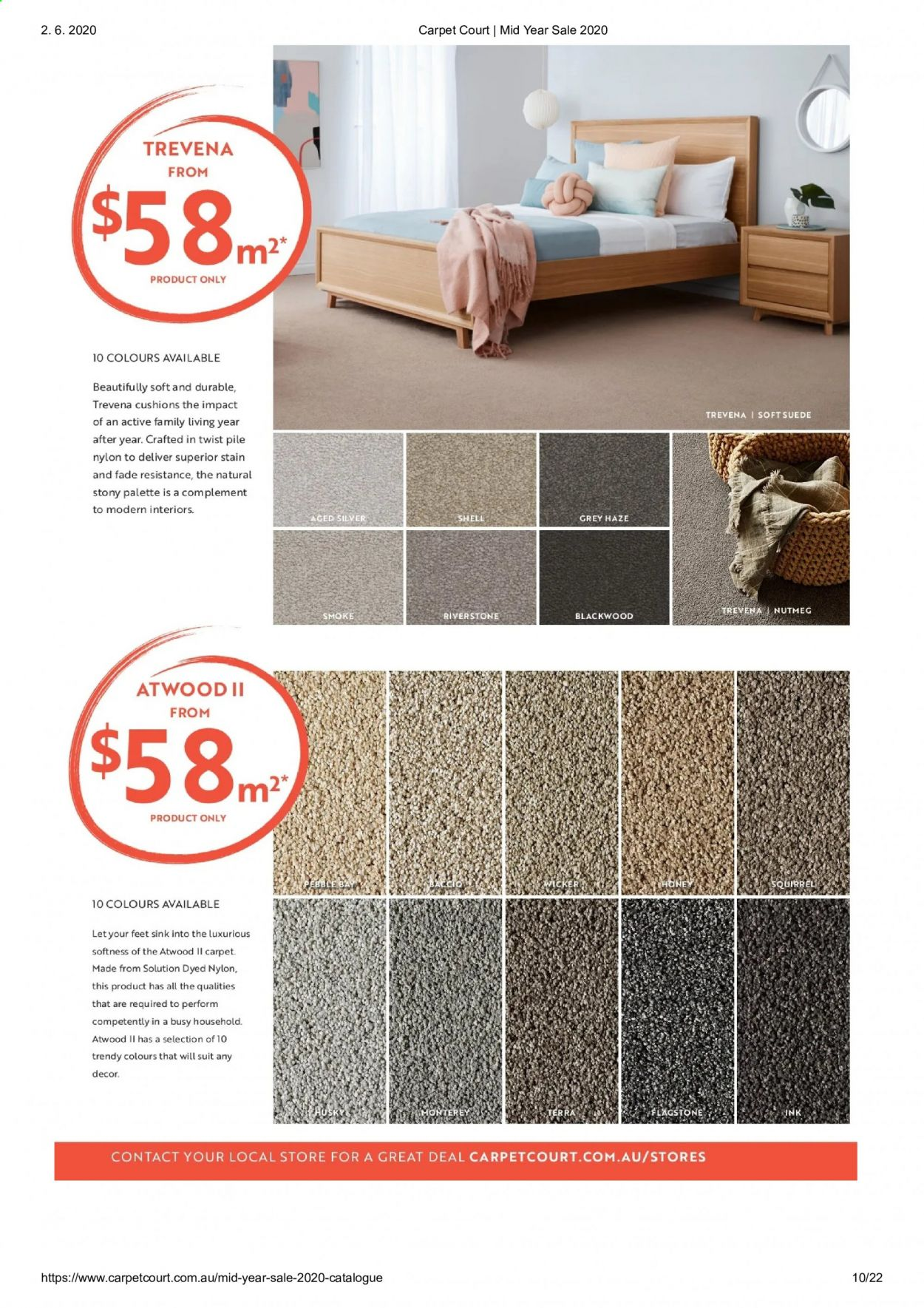 Carpet Court catalogue . Page 10.