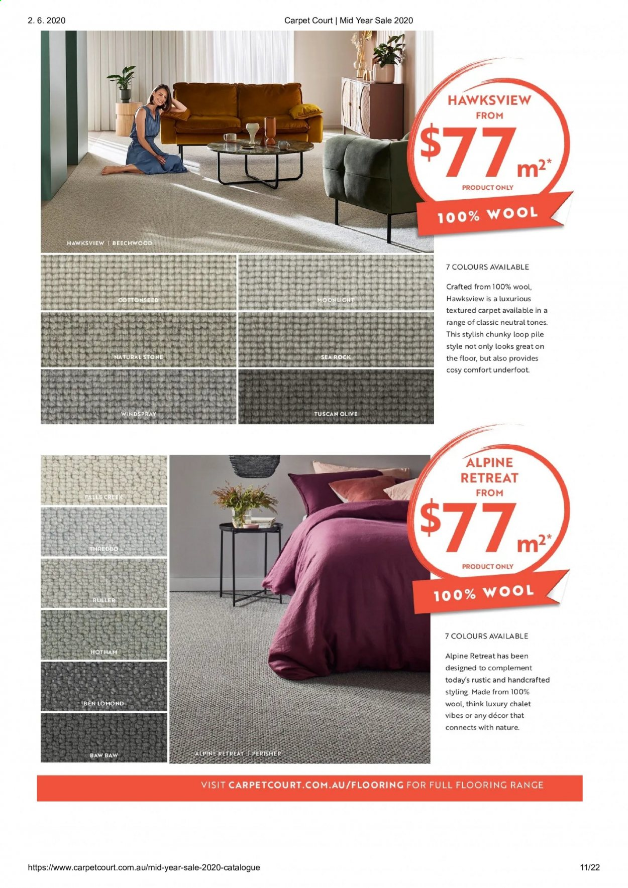 Carpet Court catalogue . Page 11.