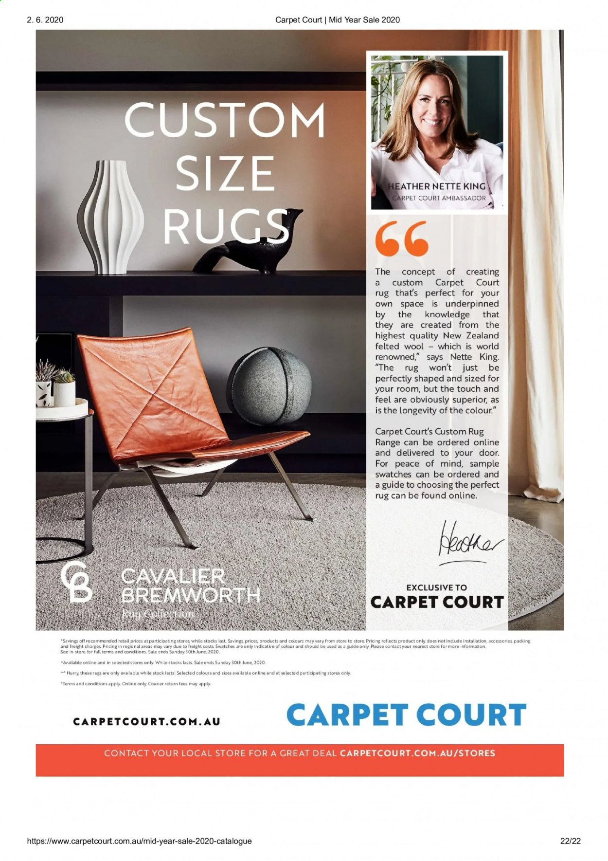 Carpet Court catalogue . Page 22.