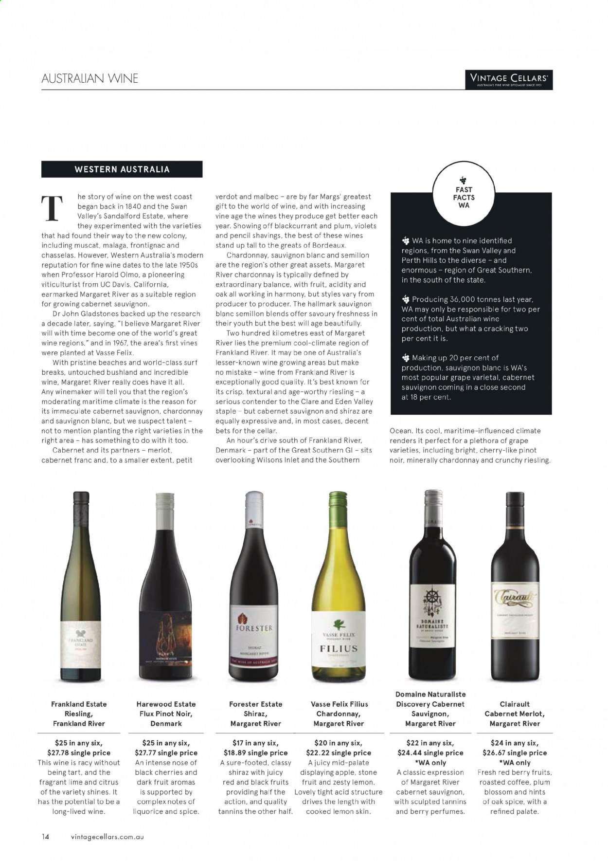 Vintage Cellars catalogue  - 1.7.2020 - 11.8.2020. Page 14.