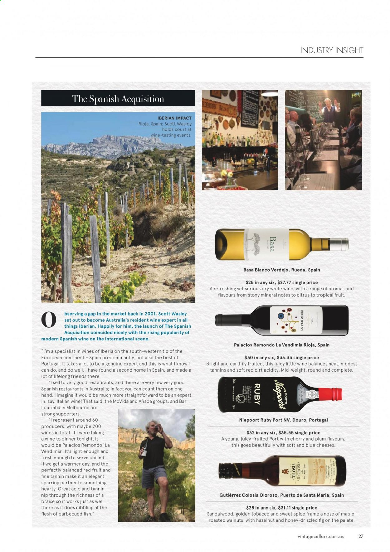 Vintage Cellars catalogue  - 1.7.2020 - 11.8.2020. Page 27.