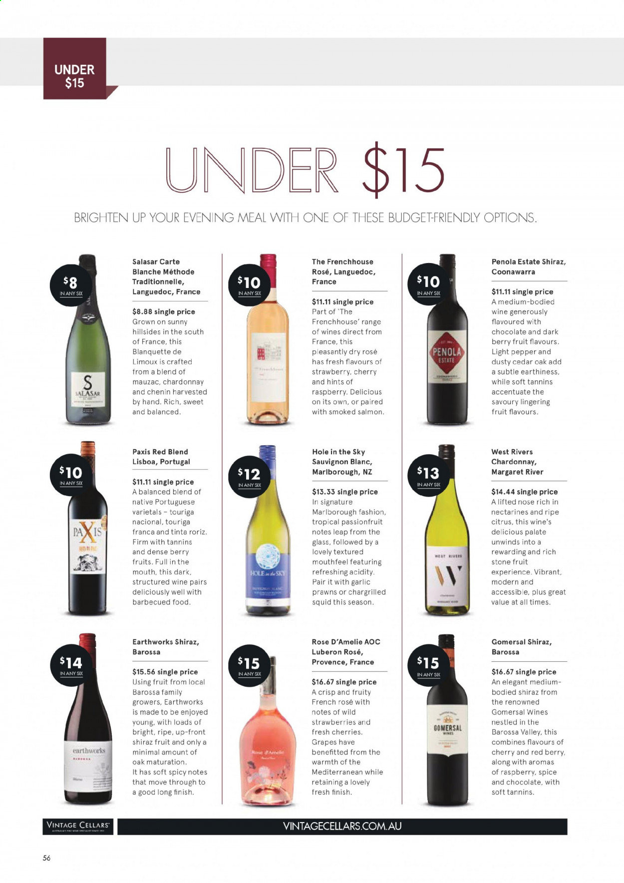 Vintage Cellars catalogue  - 1.7.2020 - 11.8.2020. Page 56.