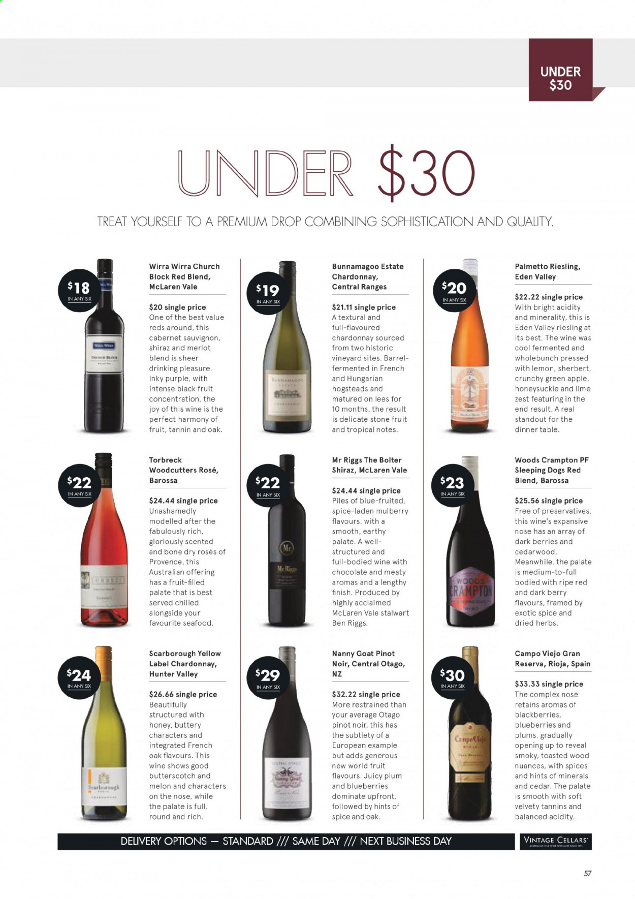 Vintage Cellars catalogue  - 1.7.2020 - 11.8.2020. Page 57.