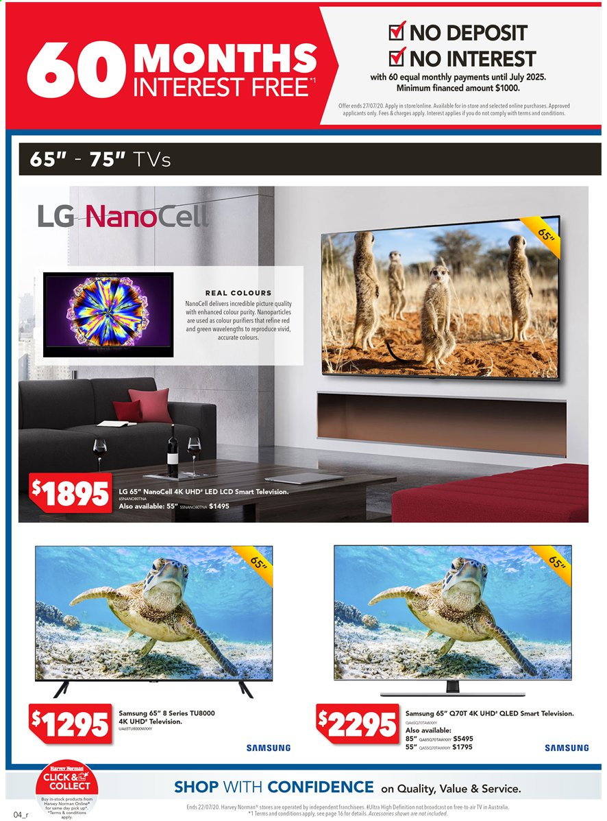 Harvey Norman catalogue  - 15.7.2020 - 22.7.2020. Page 4.