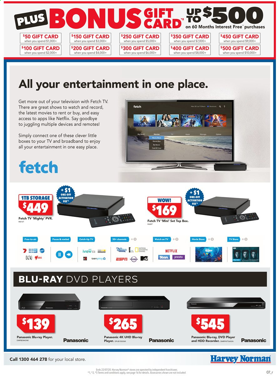 Harvey Norman catalogue  - 15.7.2020 - 22.7.2020. Page 7.