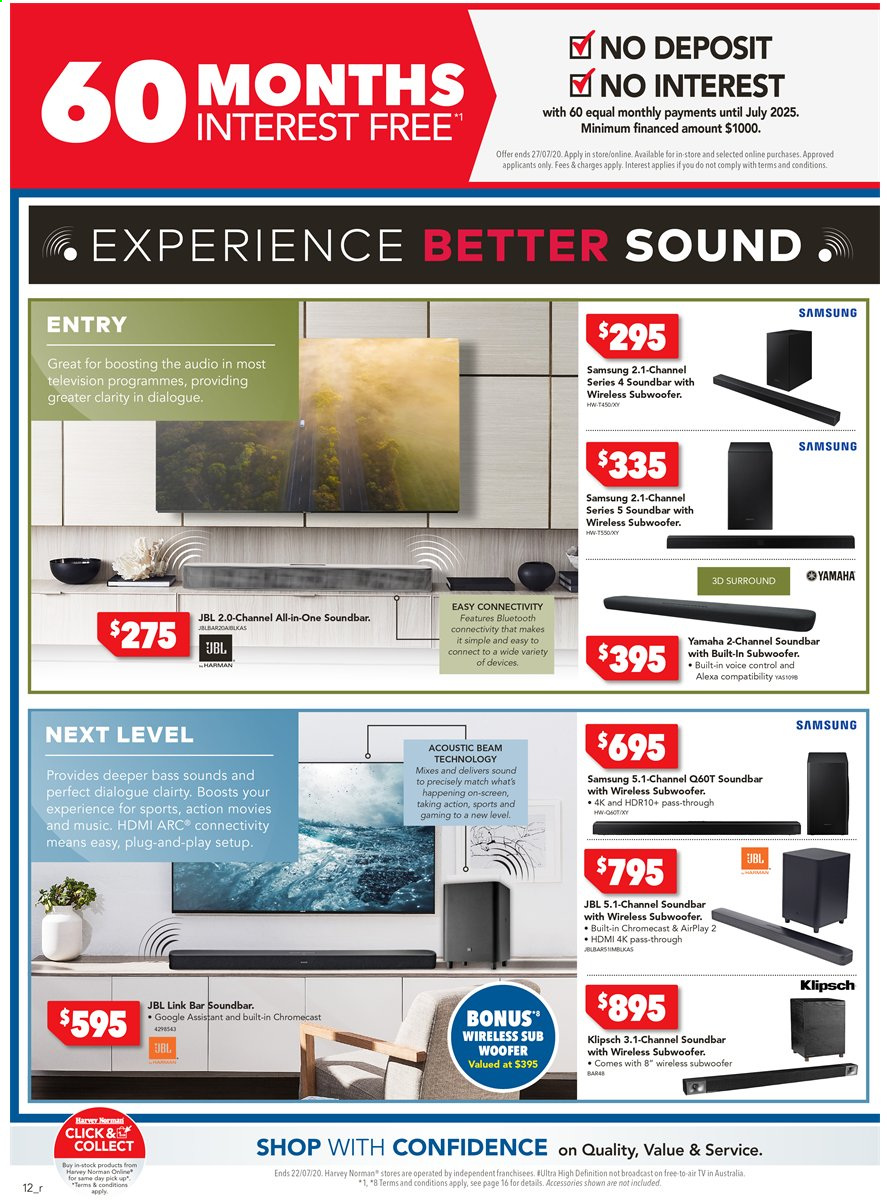 Harvey Norman catalogue  - 15.7.2020 - 22.7.2020. Page 12.