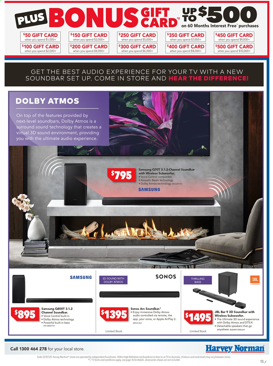 Harvey Norman catalogue  - 15.7.2020 - 22.7.2020. Page 13.