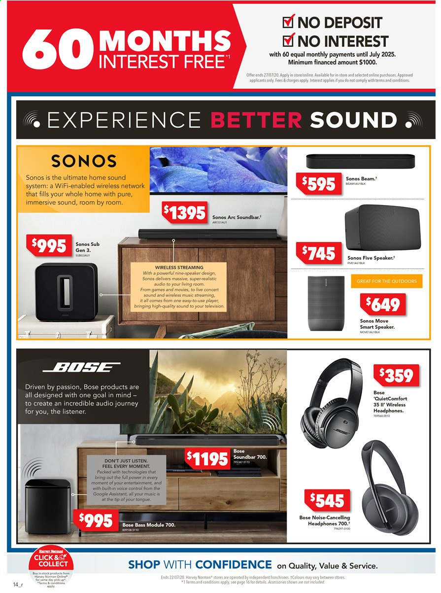 Harvey Norman catalogue  - 15.7.2020 - 22.7.2020. Page 14.