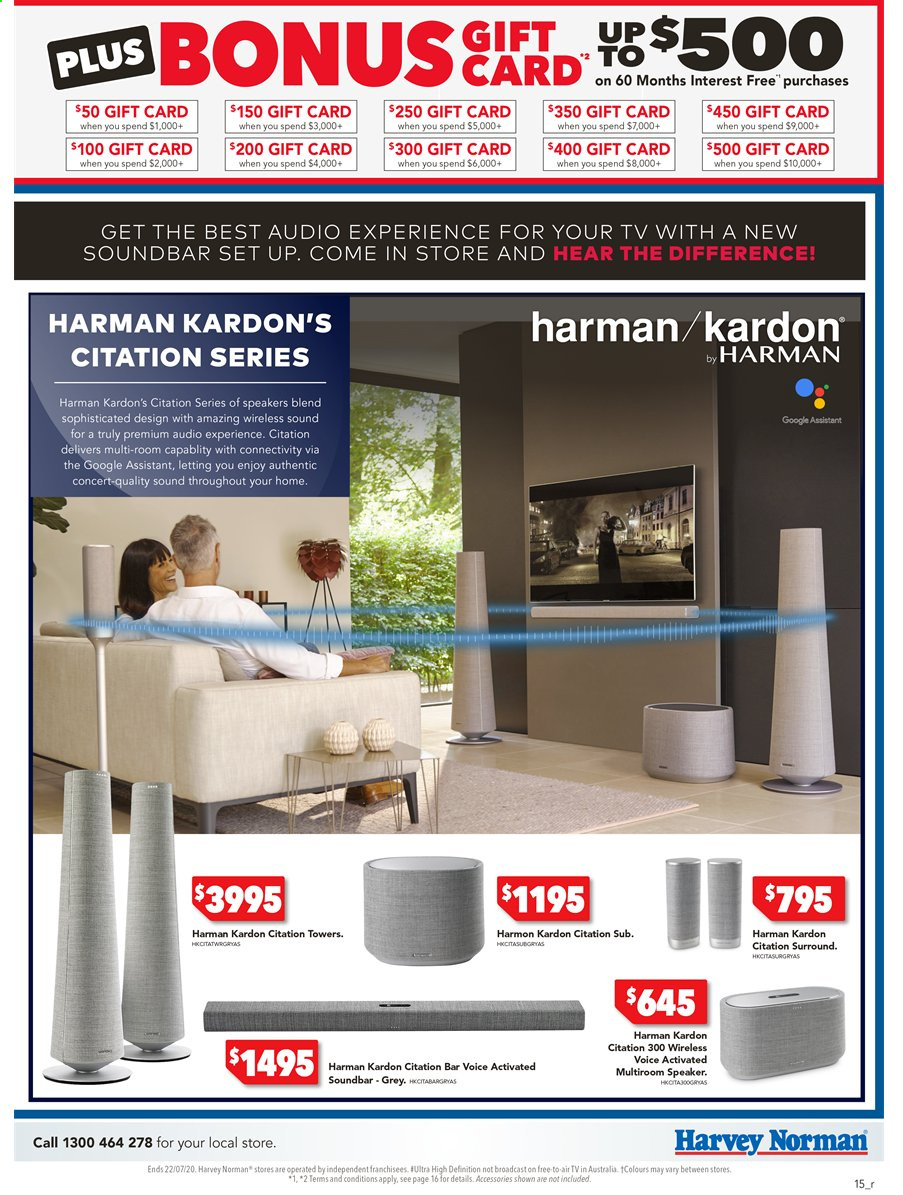 Harvey Norman catalogue  - 15.7.2020 - 22.7.2020. Page 15.