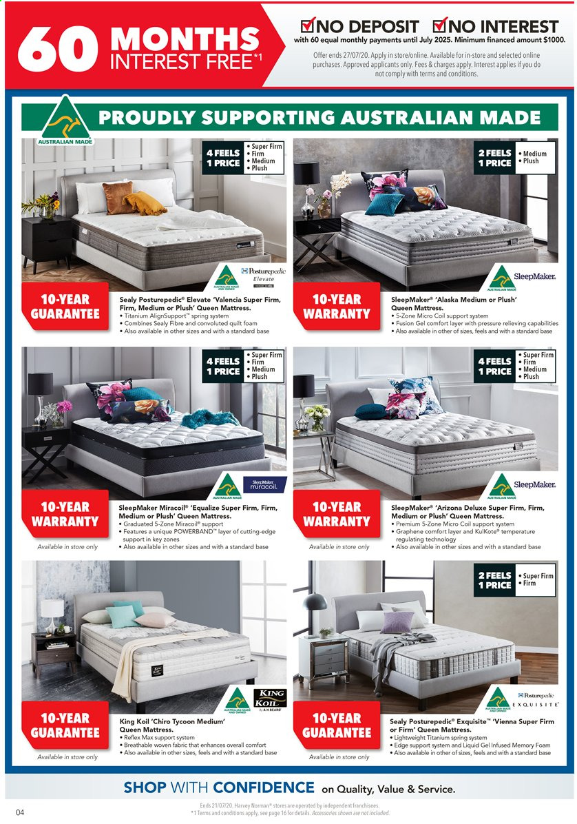 Harvey Norman catalogue  - 17.7.2020 - 21.7.2020. Page 4.