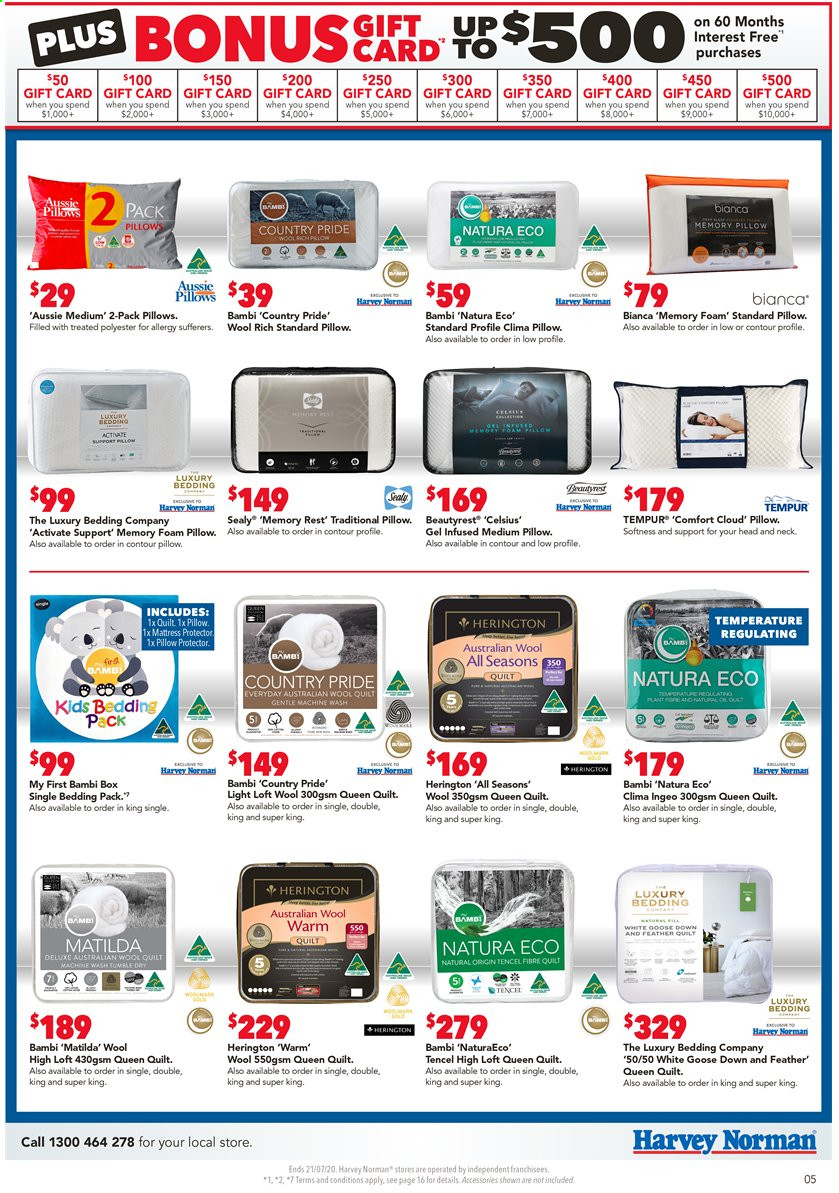 Harvey Norman catalogue  - 17.7.2020 - 21.7.2020. Page 5.
