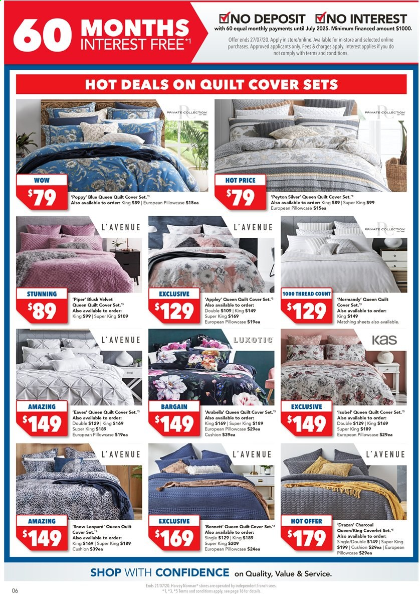 Harvey Norman catalogue  - 17.7.2020 - 21.7.2020. Page 6.