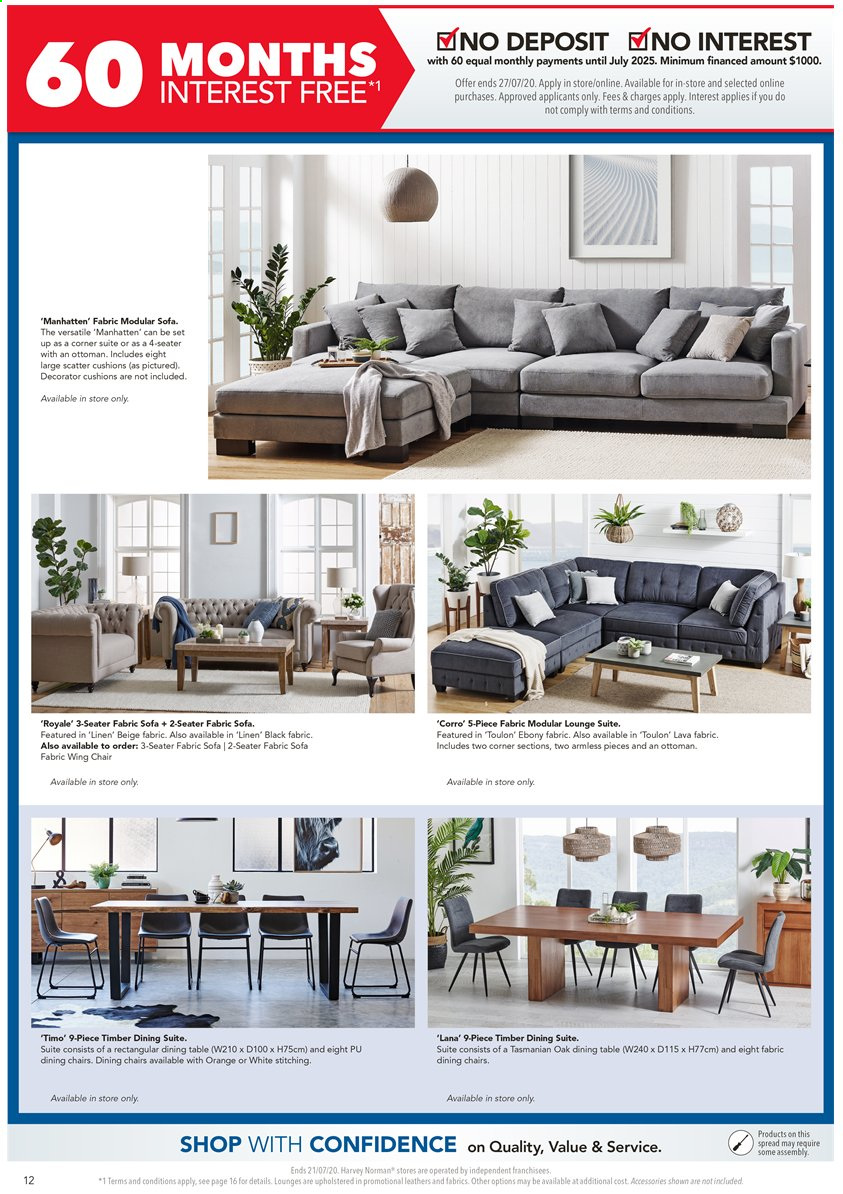 Harvey Norman catalogue  - 17.7.2020 - 21.7.2020. Page 12.