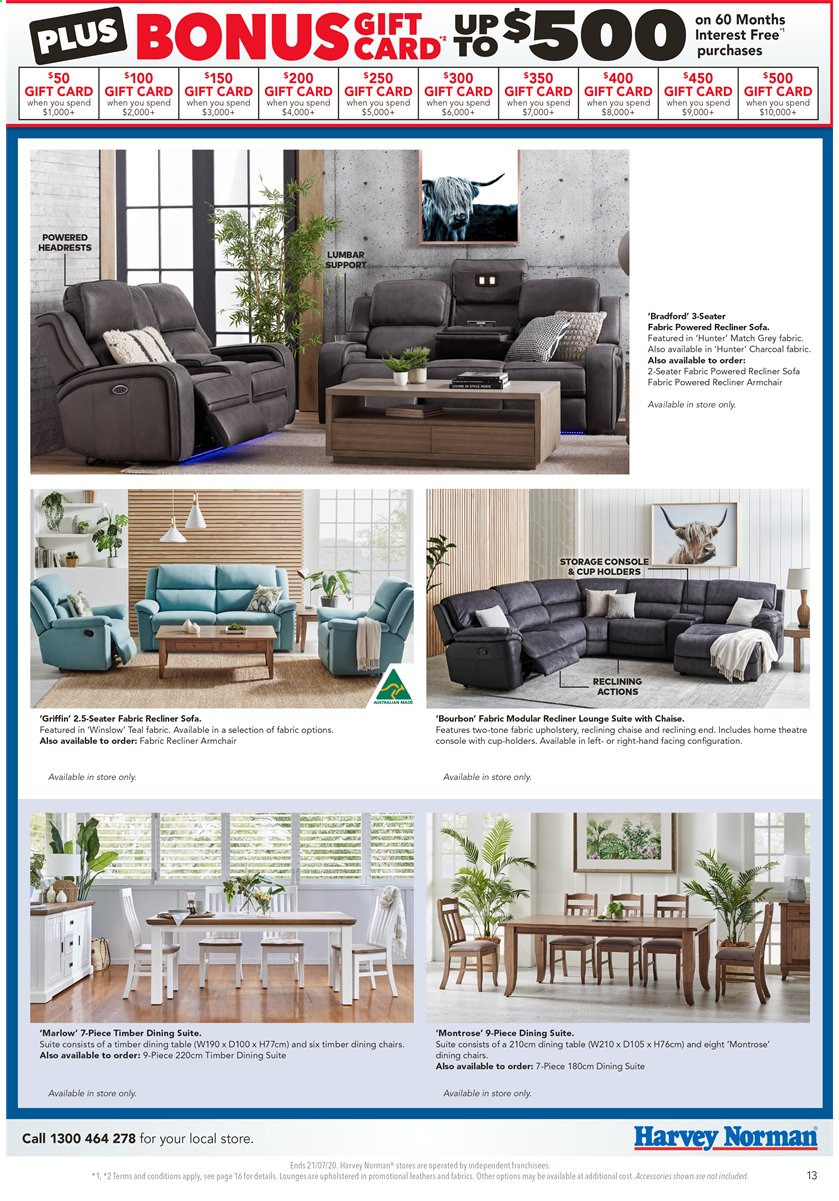 Harvey Norman catalogue  - 17.7.2020 - 21.7.2020. Page 13.