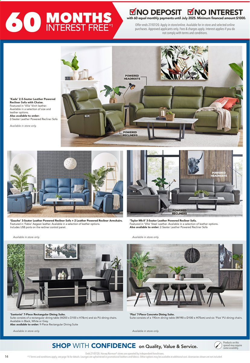 Harvey Norman catalogue  - 17.7.2020 - 21.7.2020. Page 14.