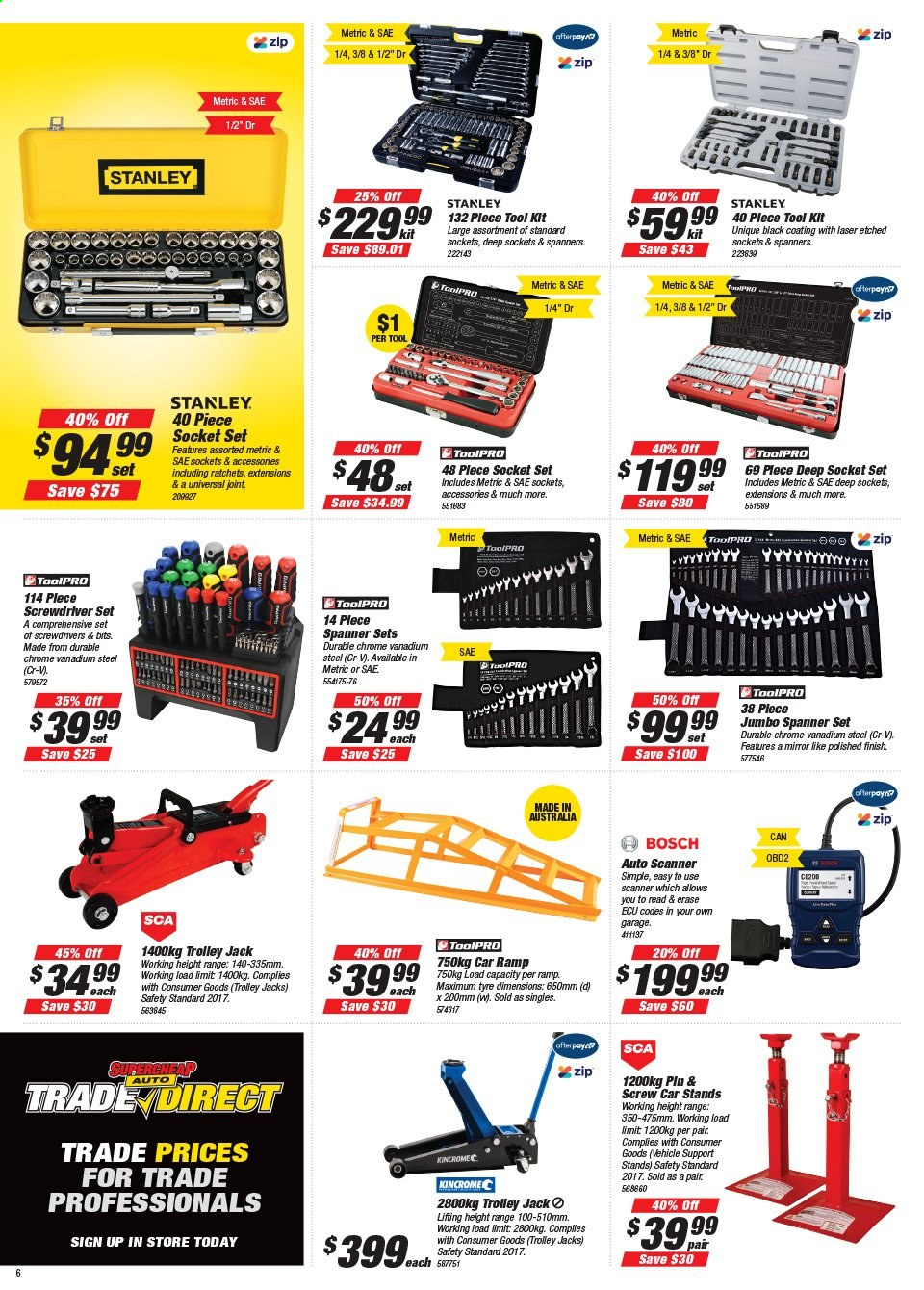 Supercheap Auto catalogue  - 22.7.2020 - 2.8.2020. Page 6.