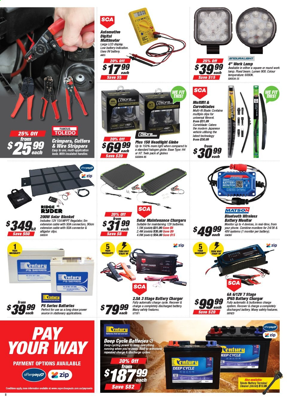 Supercheap Auto catalogue  - 22.7.2020 - 2.8.2020. Page 8.