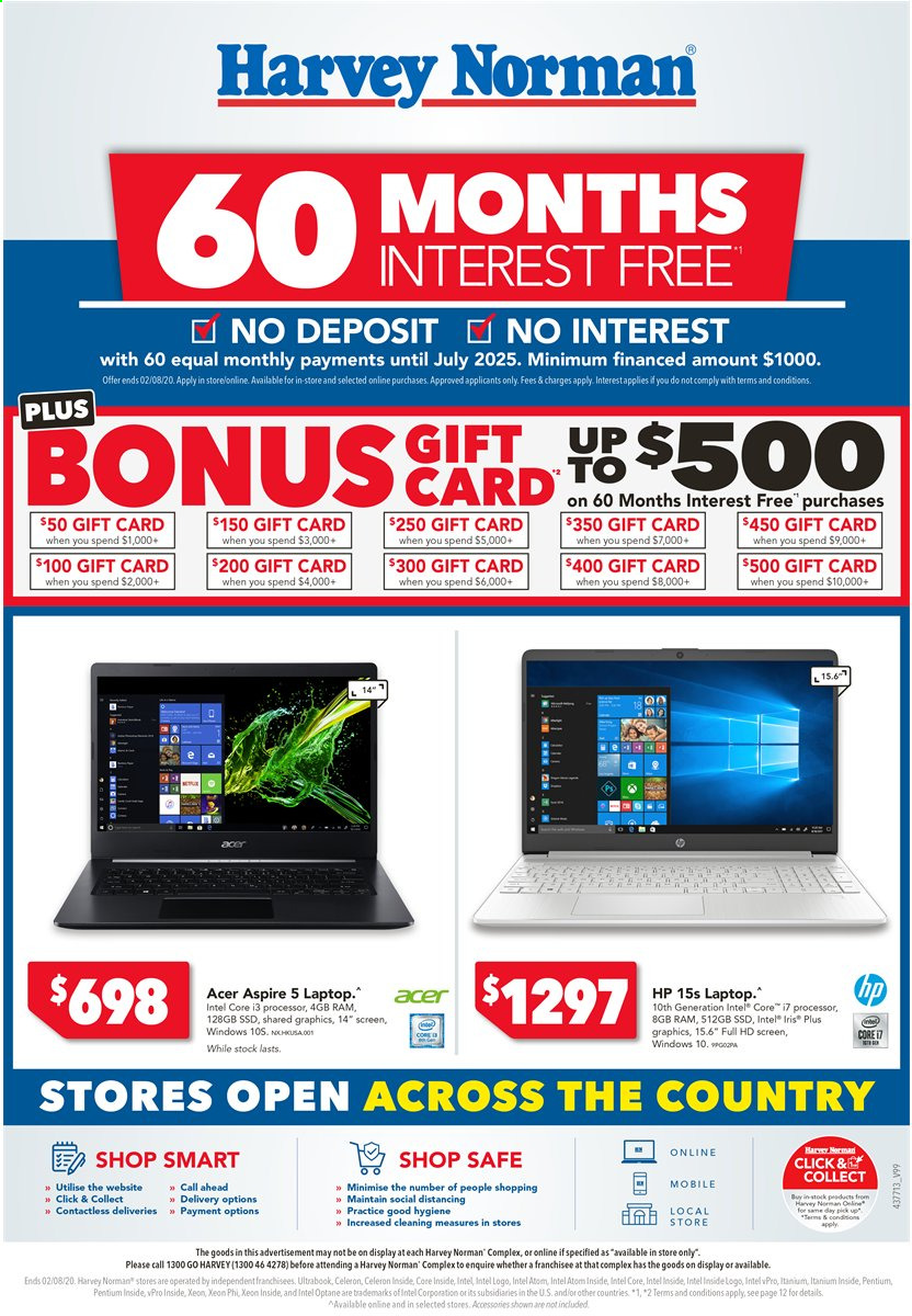 Harvey Norman catalogue  - 24.7.2020 - 2.8.2020. Page 1.
