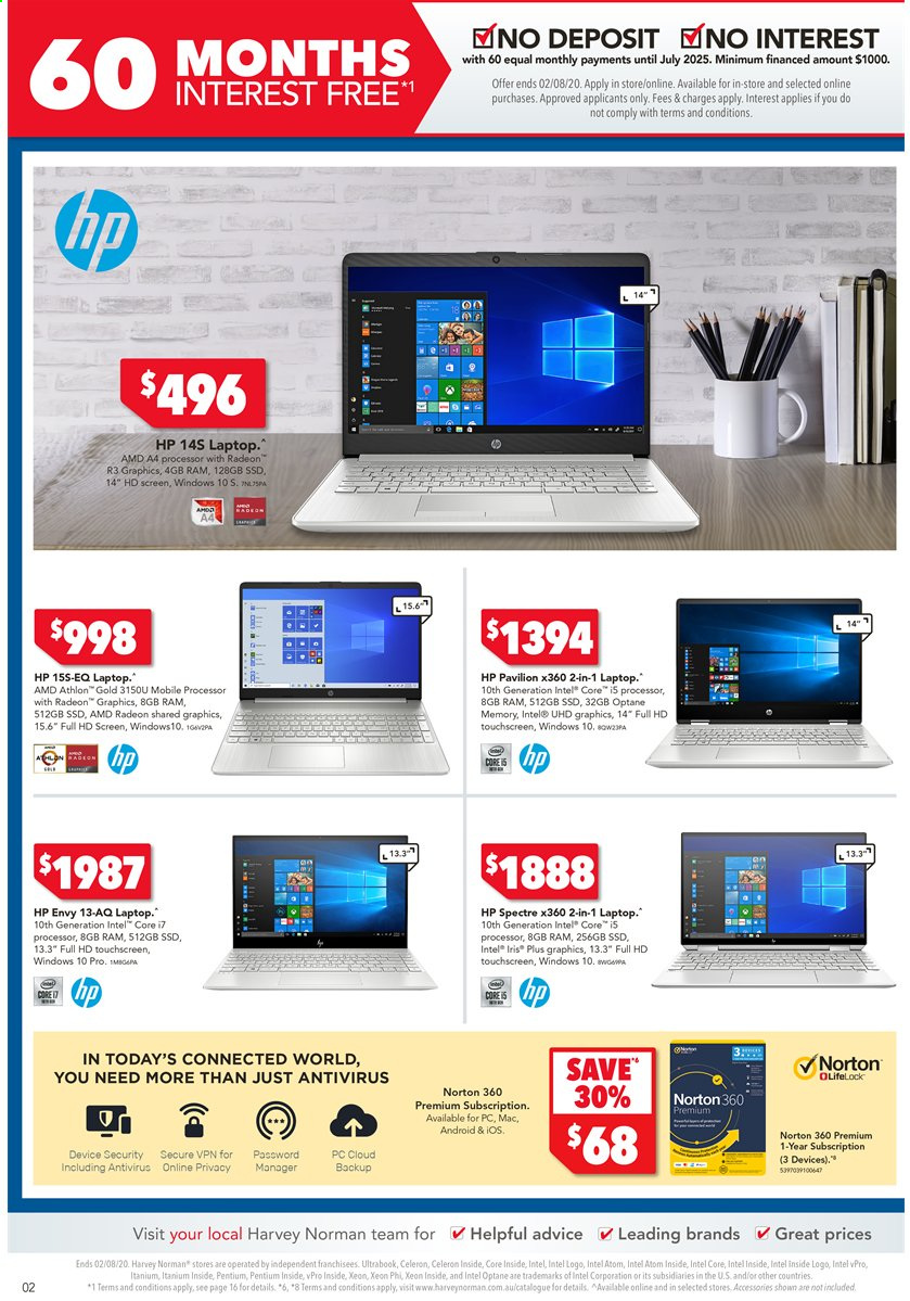 Harvey Norman catalogue  - 24.7.2020 - 2.8.2020. Page 2.