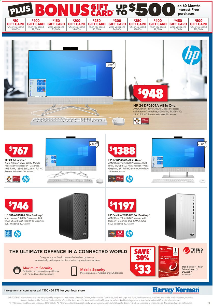 Harvey Norman catalogue  - 24.7.2020 - 2.8.2020. Page 3.