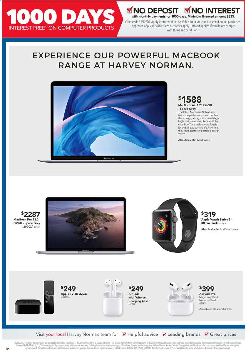 Harvey Norman catalogue  - 24.7.2020 - 2.8.2020. Page 6.