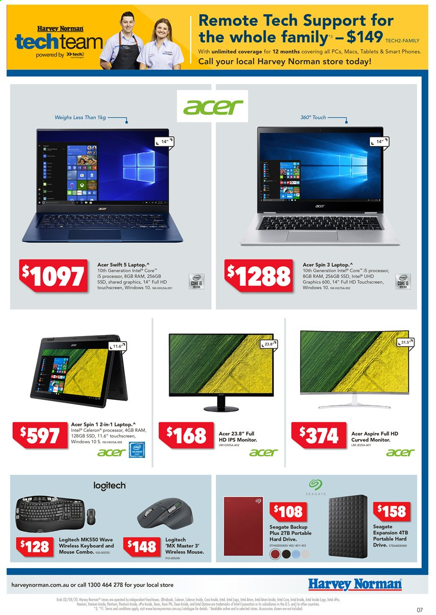 Harvey Norman catalogue  - 24.7.2020 - 2.8.2020. Page 7.