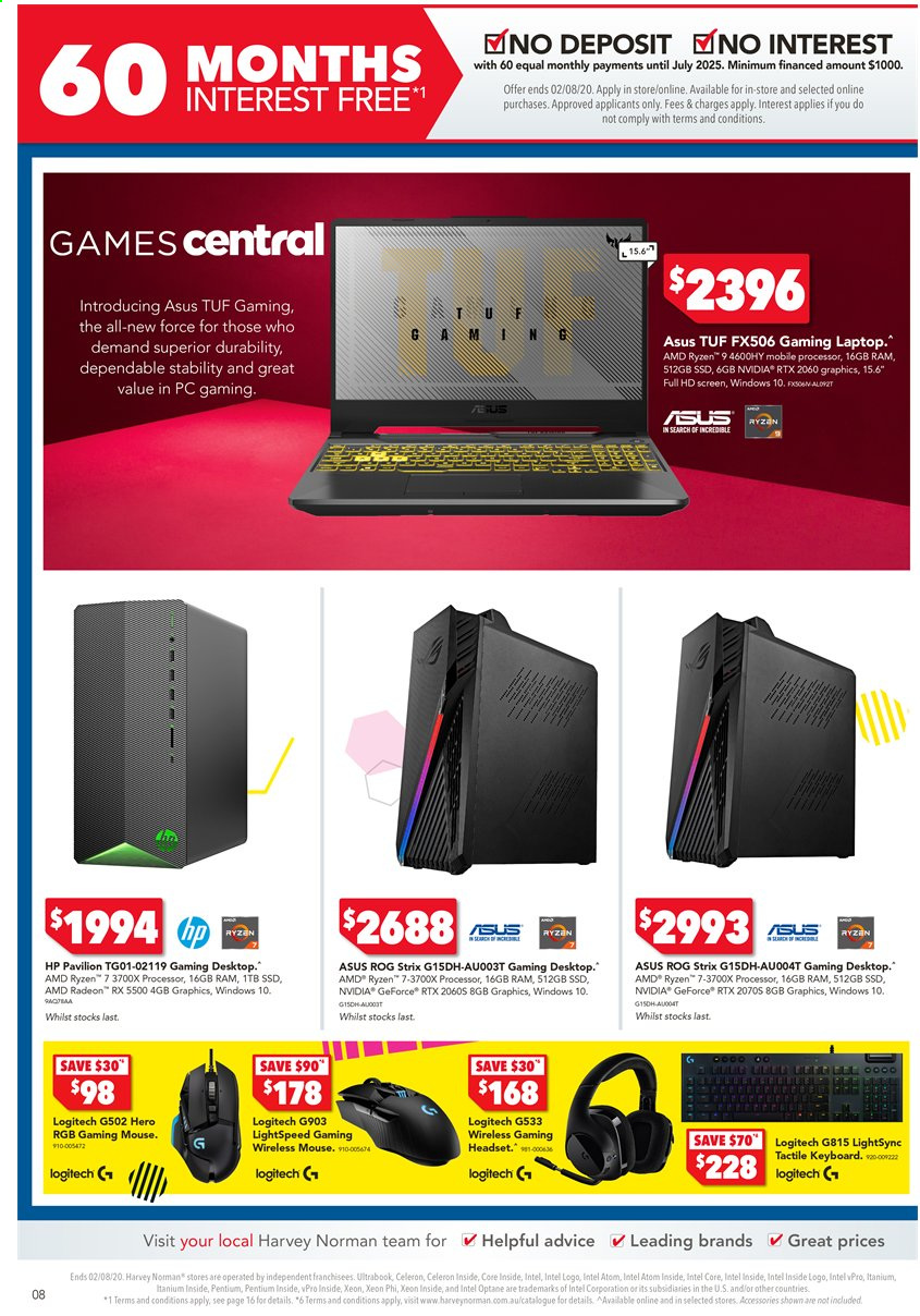 Harvey Norman catalogue  - 24.7.2020 - 2.8.2020. Page 8.