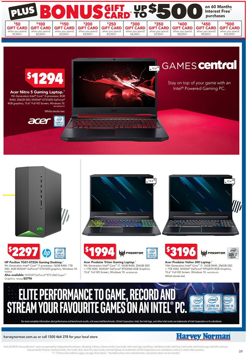 Harvey Norman catalogue  - 24.7.2020 - 2.8.2020. Page 9.