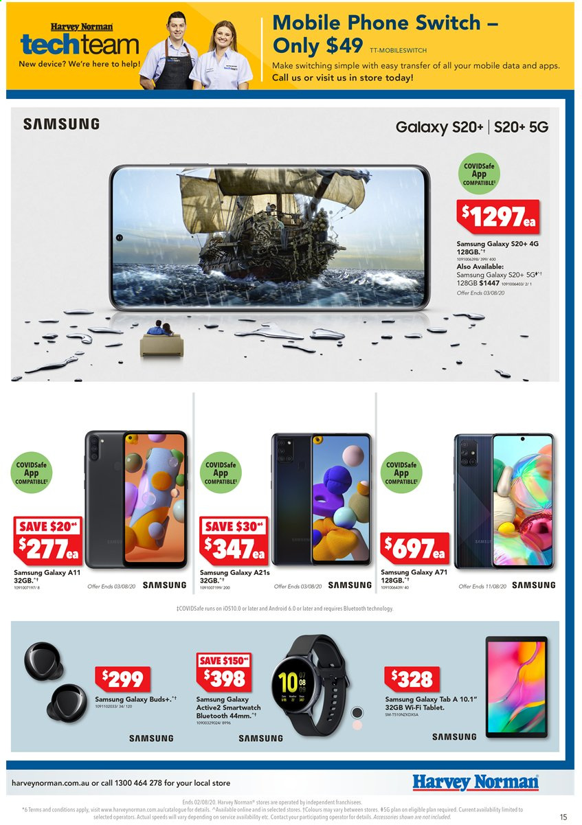 Harvey Norman catalogue  - 24.7.2020 - 2.8.2020. Page 15.