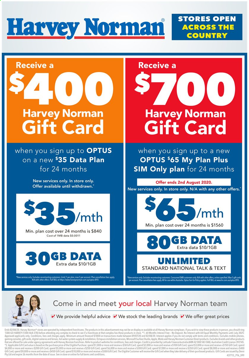 Harvey Norman catalogue  - 24.7.2020 - 2.8.2020. Page 16.