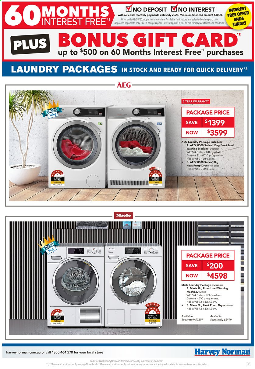 Harvey Norman catalogue  - 31.7.2020 - 2.8.2020. Page 5.