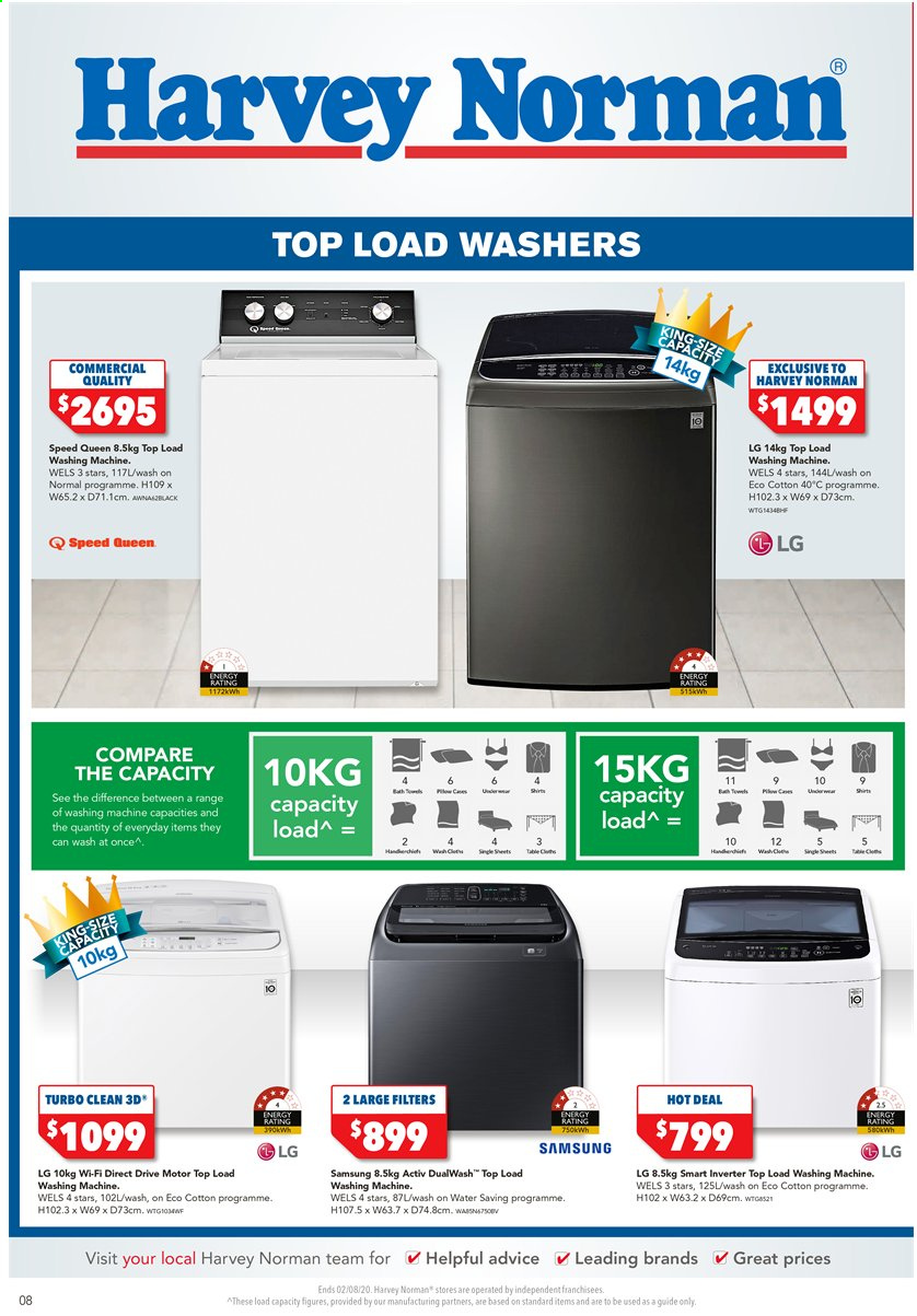Harvey Norman catalogue  - 31.7.2020 - 2.8.2020. Page 8.