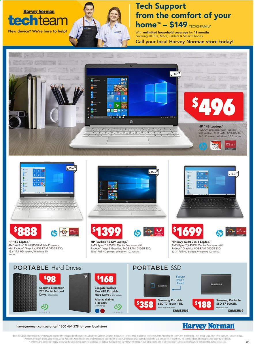 Harvey Norman catalogue  - 10.8.2020 - 17.8.2020. Page 5.