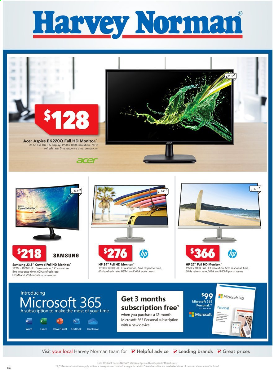 Harvey Norman catalogue  - 10.8.2020 - 17.8.2020. Page 6.