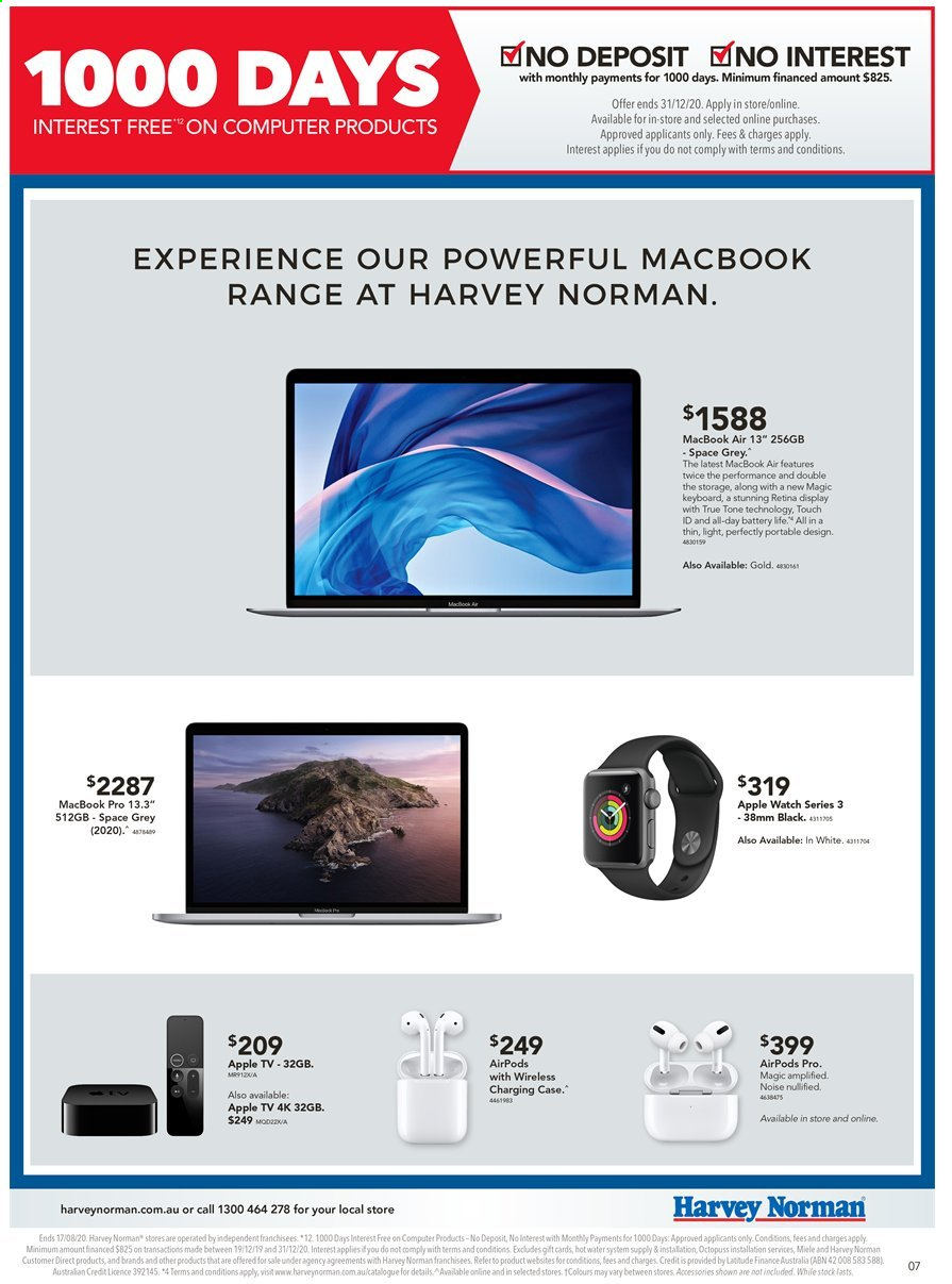 Harvey Norman catalogue  - 10.8.2020 - 17.8.2020. Page 7.