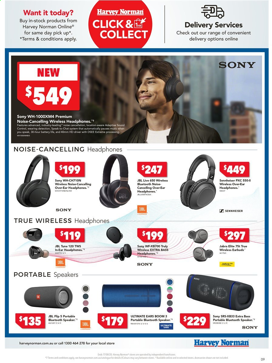 Harvey Norman catalogue  - 10.8.2020 - 17.8.2020. Page 9.