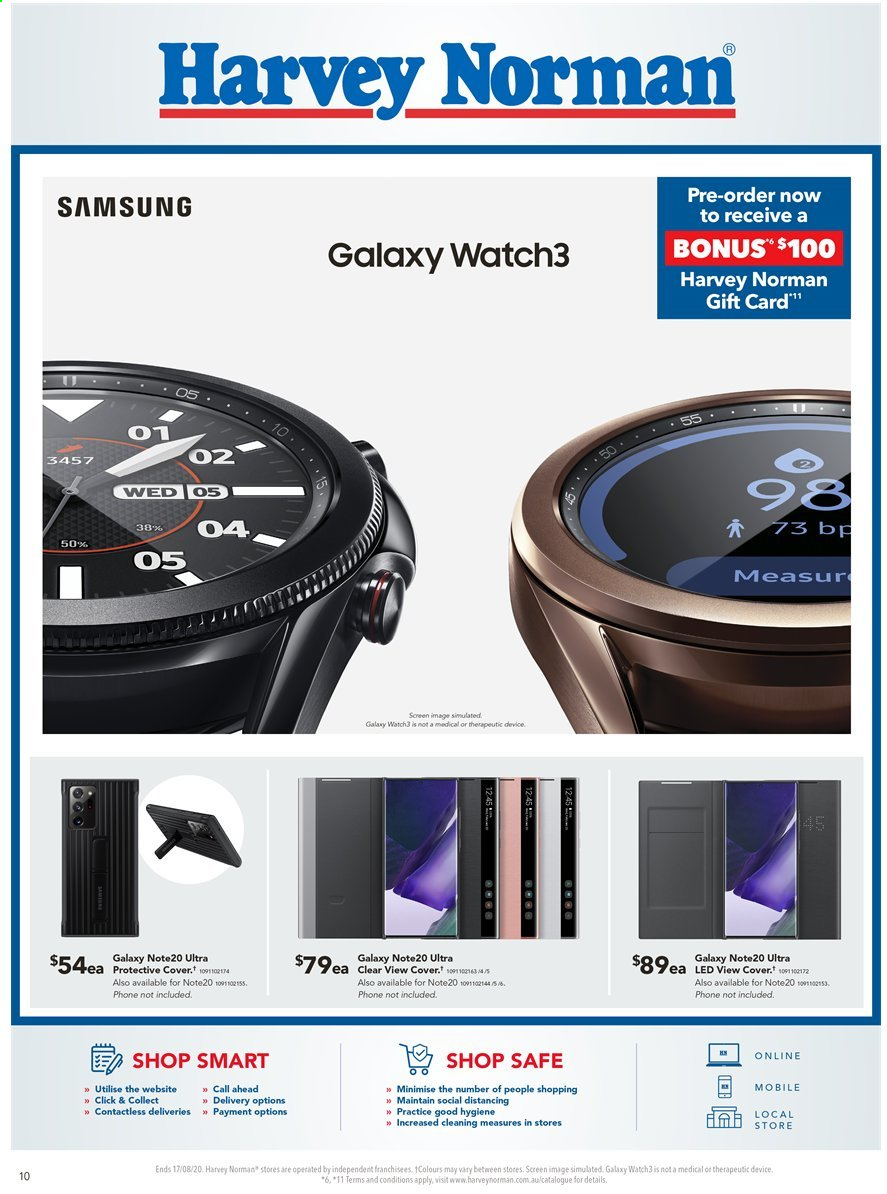 Harvey Norman catalogue  - 10.8.2020 - 17.8.2020. Page 10.