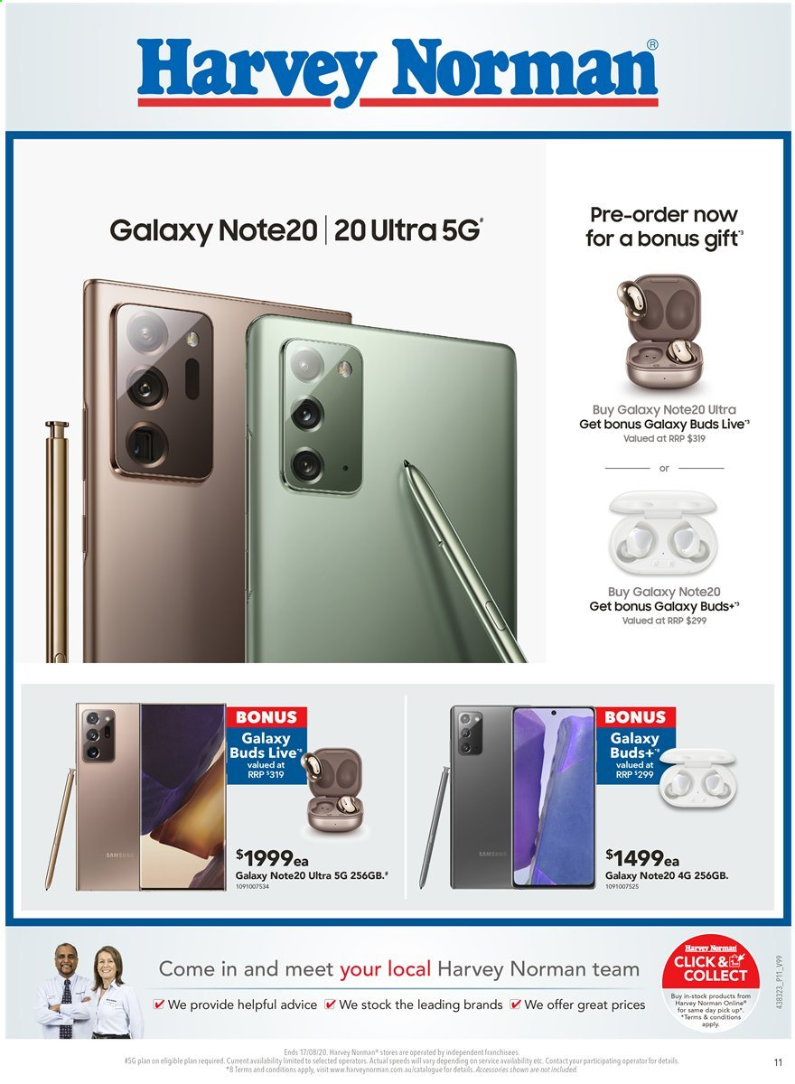 Harvey Norman catalogue  - 10.8.2020 - 17.8.2020. Page 11.