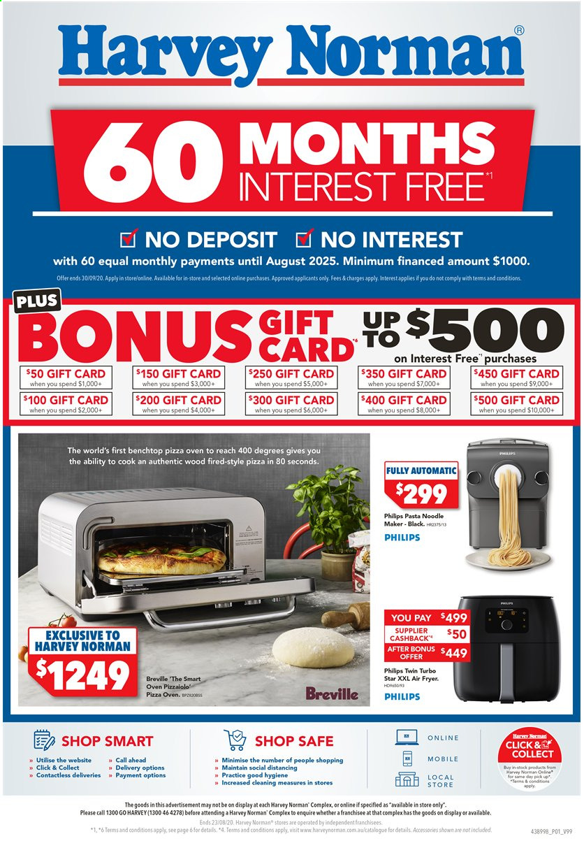 Harvey Norman catalogue  - 13.8.2020 - 23.8.2020. Page 1.