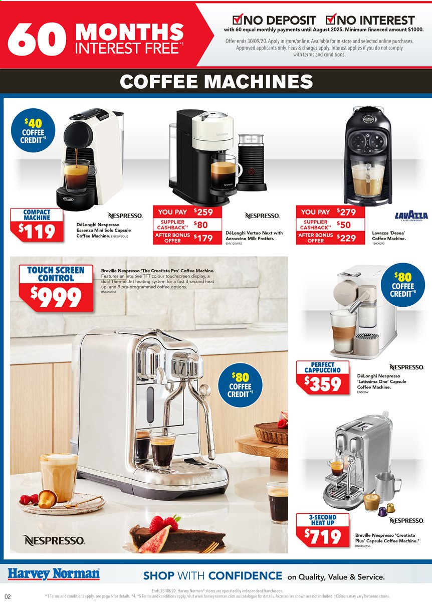 Harvey Norman catalogue  - 13.8.2020 - 23.8.2020. Page 2.