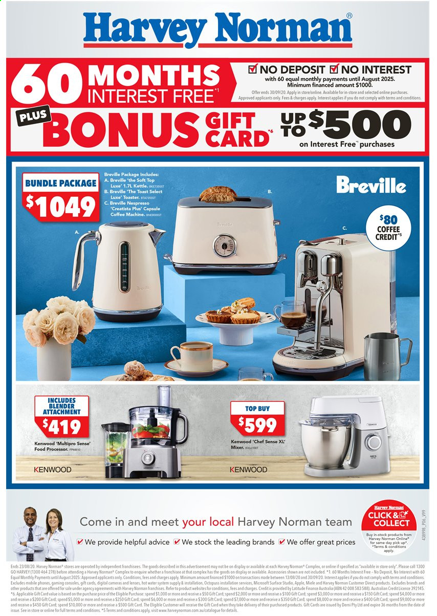 Harvey Norman catalogue  - 13.8.2020 - 23.8.2020. Page 6.