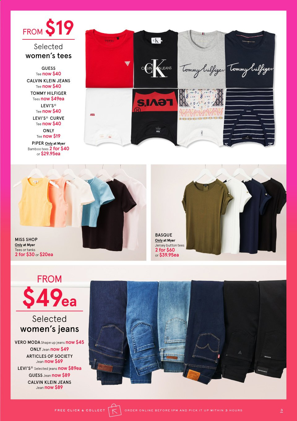 Myer catalogue . Page 3.