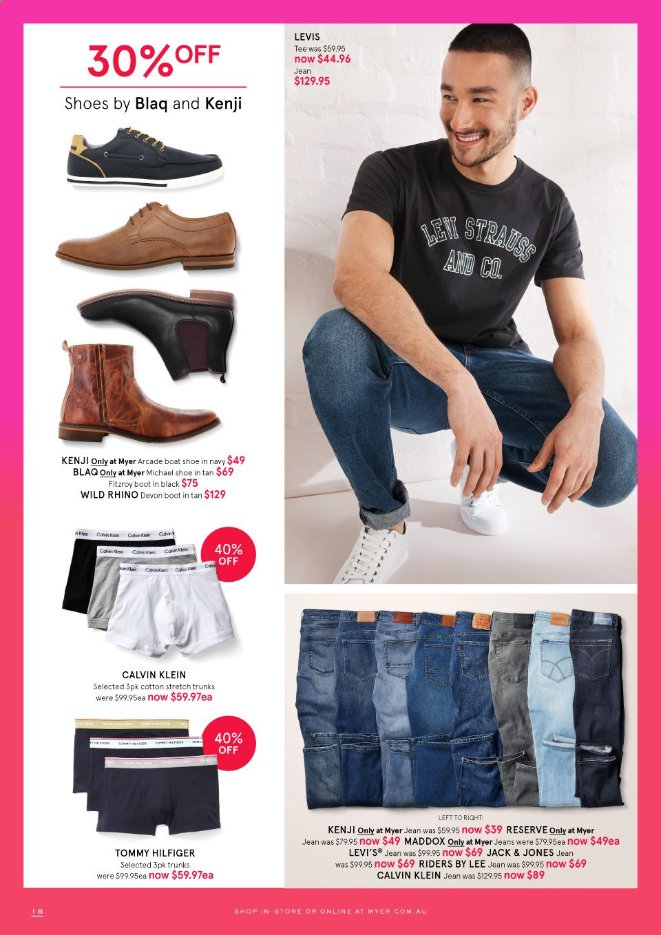 Myer catalogue . Page 18.